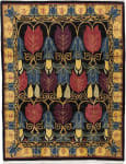 Tufenkian Tibetan Voysey Tulips Black Area Rug
