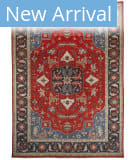 Azad Pakistan  Red - Blue Area Rug