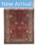 Azad Kazak  Red - Ivory Area Rug