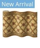 Couristan Royal Luxury Woodland Trellis 1325 Linen-Beige Custom Length Runner