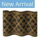 Couristan Royal Luxury Woodland Trellis 1325 Ebony Custom Length Runner