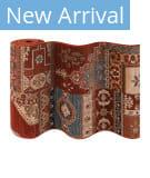 Couristan Timeless Treasures Kerman Mosaic 4323 Burgundy Custom Length Runner