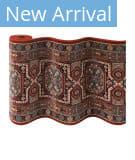 Couristan Timeless Treasures Maharaja 4324 Burgundy Custom Length Runner