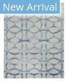 Exquisite Rugs Moreno Hand Knotted 2430 Light Silver - Light Blue Area Rug