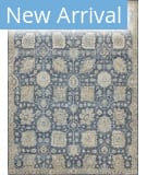 Exquisite Rugs Faris Hand Knotted 3986 Blue Area Rug