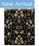 Feizy Luxury GEN-0059 Black Area Rug