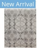 Feizy Cadiz 3989f Light Gray - Black Area Rug