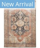 Feizy Percy 39ALF Brown - Rust Area Rug