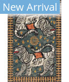 Loloi Tigress TIG-01 Teal - Grey Area Rug