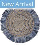 Lr Resources Natural Fiber 3348 Denim Blue - Natural Area Rug