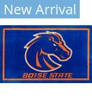 Luxury Sports Rugs Team Boise State University Blue Area Rug