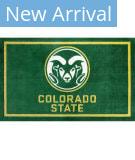 Luxury Sports Rugs Team Colorado State University Green Area Rug