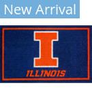 Luxury Sports Rugs Team University Of Illinois Blue Area Rug