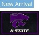 Luxury Sports Rugs Team Kansas State University Black Area Rug