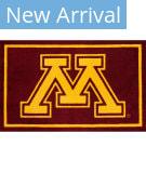 Luxury Sports Rugs Team University Of Minnesota Maroon Area Rug