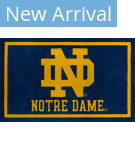 Luxury Sports Rugs Team University Of Notre Dame Blue Area Rug