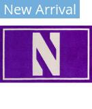 Luxury Sports Rugs Team Northwestern University Purple Area Rug