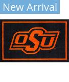 Luxury Sports Rugs Team Oklahoma State University Black Area Rug