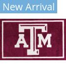 Luxury Sports Rugs Team Texas A&M University Maroon Area Rug