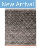 Solo Rugs Grit and Ground Geo Jasmine Charcoal Area Rug