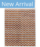 Solo Rugs Grit and Ground Pogo Orange -Blue Area Rug