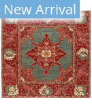 Persian Carpet Classic Revival Oushak AP-38 Green Area Rug