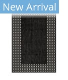 Trans-Ocean Carmel Gingham Border 8443/98 Black Area Rug