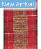 Trans-Ocean Marina Tribal Stripe 805724 Red Area Rug