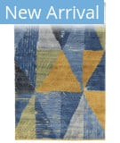 Tufenkian Knotted Denim Gold 4' x 6' Rug