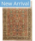Tufenkian Knotted Classic Indo Heriz I Rust Area Rug