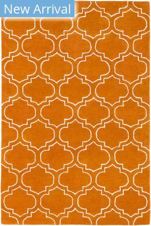 Rugstudio Sample Sale 137559R Orange - Ivory Area Rug