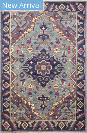 Bashian Artifact A154-Ar109 Teal Area Rug
