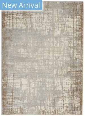 Calvin Klein Rush Ck950 Ivory - Taupe Area Rug