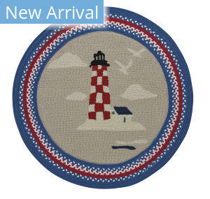 Capel Anthony Baratta Maritime Lighthouse 0385 Ruby Area Rug