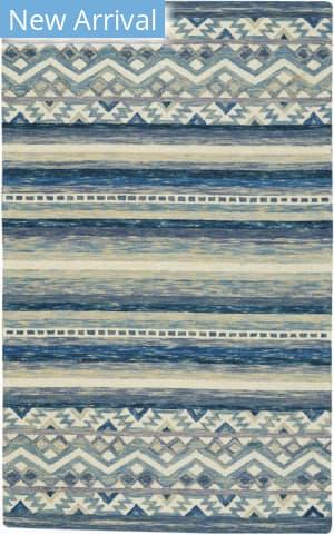 Capel Shakta-Kelim 2569 Blue Area Rug