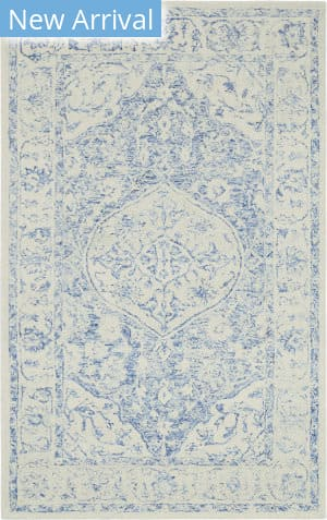Company C Colorfields Prana 10715 Blue Area Rug