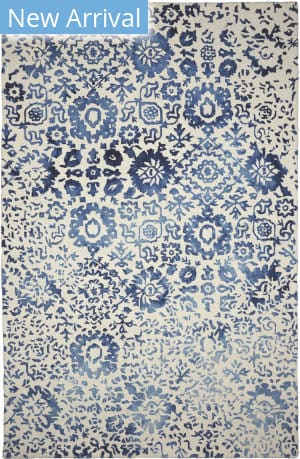Company C Colorfields Batik 10828 Blue Area Rug