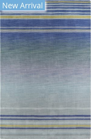 Company C Colorfields Marina 19314 Blue Area Rug