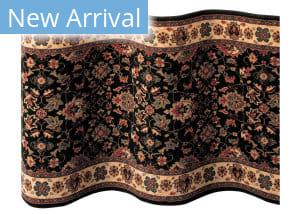 Couristan Kashimar Floral Herati 600 Black-Teal Custom Length Runner