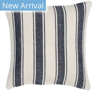 Dash And Albert Blue Awning Pillow Stripe Blue Area Rug