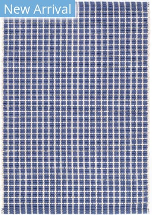 Dash And Albert Gridiron Indoor - Outdoor Denim Area Rug