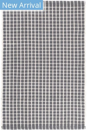 Dash And Albert Gridiron Indoor - Outdoor Grey Area Rug