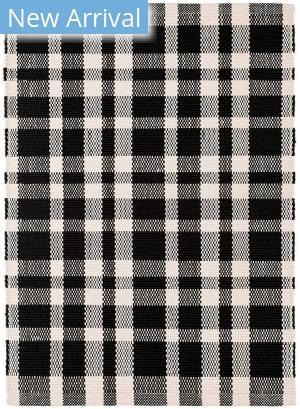 Dash And Albert Tattersall Indoor - Outdoor Black Area Rug