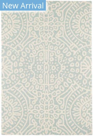 Dash And Albert Temple Micro Hooked Sky Area Rug