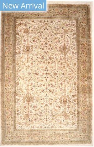 Eastern Rugs Tabriz 41769 Ivory Area Rug
