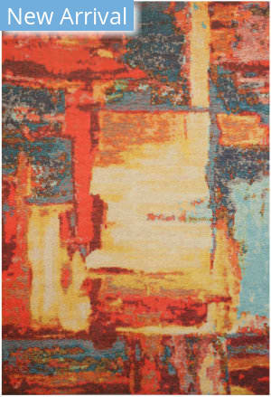 Eastern Rugs Moderno Art Fl11rd Red Area Rug