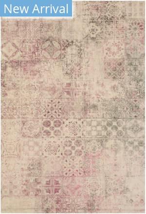 Eastern Rugs Moderno Mosaic Fl17pk Pink Area Rug
