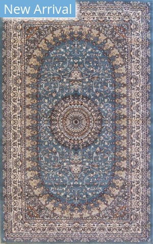 Eastern Rugs Tabriz Fl52bl Blue Area Rug