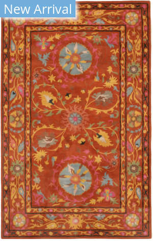 Eastern Rugs Suzani Ie62rt Rust Area Rug