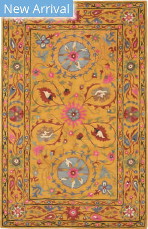 Eastern Rugs Suzani Ie62yl Yellow Area Rug